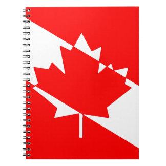 Gefülltes weißes Tauchen Kanada Spiral Notizblock
