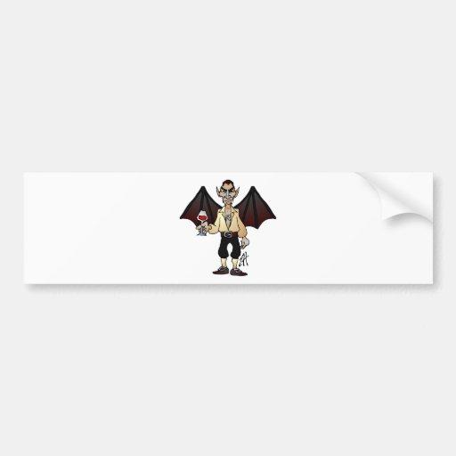 Gefürchteter Dracula Auto Sticker