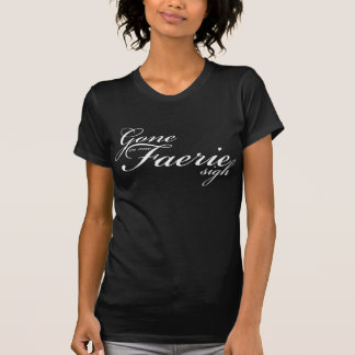 Gegangen in einen Feen-Seufzer - weißes Skript T-Shirt