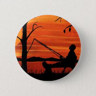 Gegangene Fischerei Runder Button 5,7 Cm