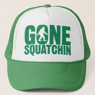 Gegangener Squatchin grüner Buchstabe-Hut Truckerkappe
