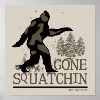 Gegangener Squatching Entwurf Poster