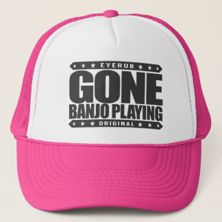 GEGANGENES BANJO-SPIELEN - Liebe, Bluegrass-Musik Truckerkappe