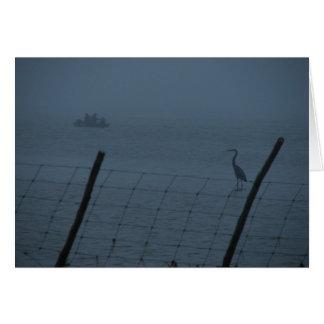 Gegangenes Fishin auf einem nebeligen Mornin Karte