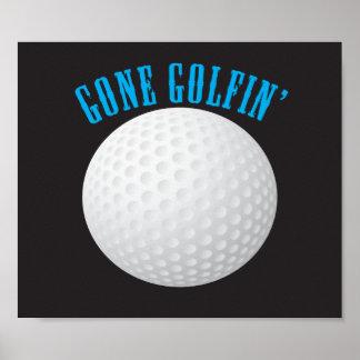 Gegangenes Golf spielen Poster