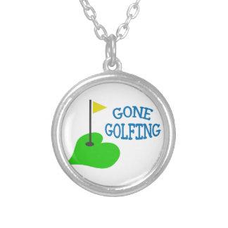 Gegangenes Golf spielen Versilberte Kette