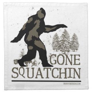 Gegangenes Squatchin Bedruckte Servietten