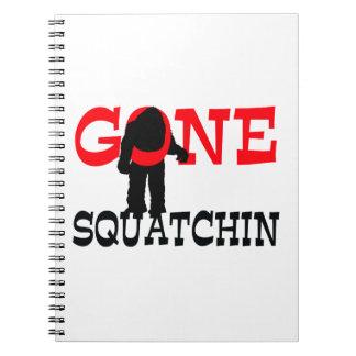 Gegangenes Squatchin Bigfoot eingeschlossen Notizblock