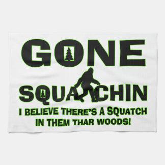 Gegangenes Squatchin Bigfoot im Holz Geschirrtuch