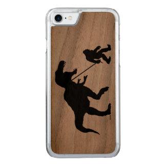 Gegangenes Squatchin mit T-rex Carved iPhone 8/7 Hülle