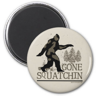 Gegangenes Squatchin Runder Magnet 5,1 Cm