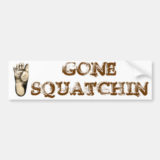 Gegangenes Squatchin (Tribut zu allen großen Autoaufkleber