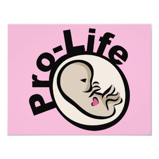 Gegen die Abtreibung Fötus-Entwurf 10,8 X 14 Cm Einladungskarte