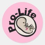 Gegen die Abtreibung Fötus-Entwurf Runder Aufkleber