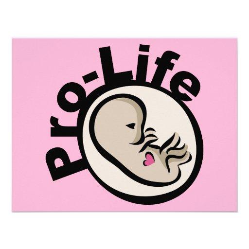Gegen die Abtreibung Fötus-Entwurf Personalisierte Ankündigungskarte