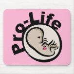 Gegen die Abtreibung Fötus-Entwurf Mauspad