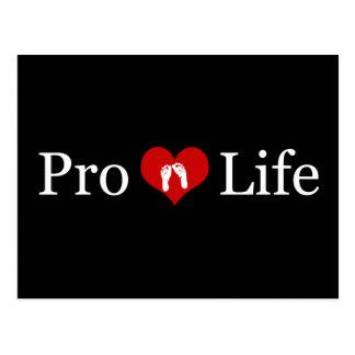 Gegen die Abtreibung Herz-und Baby-Füße Postkarten