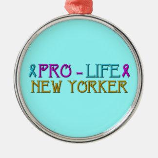 Gegen die Abtreibung New Yorker Silbernes Ornament