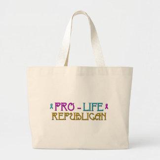 Gegen die Abtreibung Republikaner Jumbo Stoffbeutel