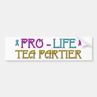 Gegen die Abtreibung Tee Partier Autoaufkleber