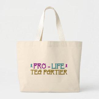 Gegen die Abtreibung Tee Partier Jumbo Stoffbeutel