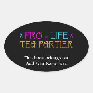 Gegen die Abtreibung Tee Partier Ovaler Aufkleber