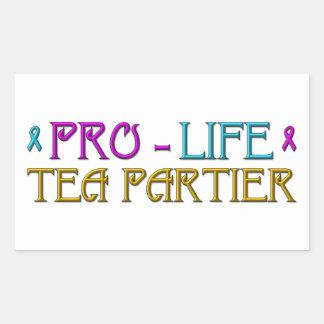 Gegen die Abtreibung Tee Partier Rechteckiger Aufkleber