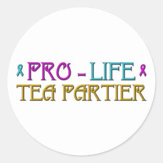 Gegen die Abtreibung Tee Partier Runder Aufkleber