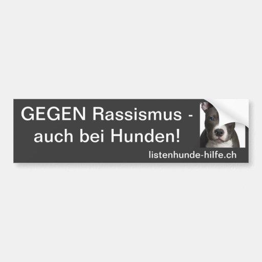 Gegen Rassismus - auch bei Hunden! Autosticker