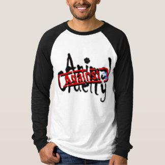 Gegen Tiergrausamkeits-lange Hülse T T-Shirt