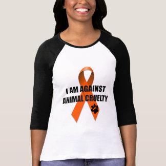 Gegen Tiergrausamkeits-orange Bewusstseins-Band Shirts