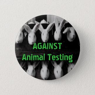 """Gegen Tierprüfung 2 knöpfen 1/4"""" Button"""