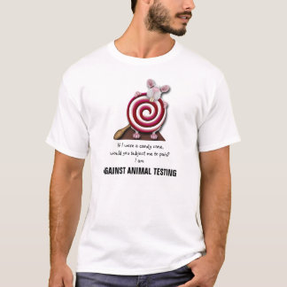 Gegen Tierprüfung - der T - Shirt der Männer