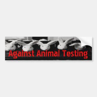 Gegen Tierprüfungs-Auto-Autoaufkleber Autoaufkleber