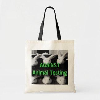 Gegen Tierprüfungs-MiniTaschen-Tasche Budget Stoffbeutel