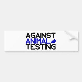 Gegen Tierversuche Autoaufkleber