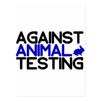 Gegen Tierversuche Postkarte