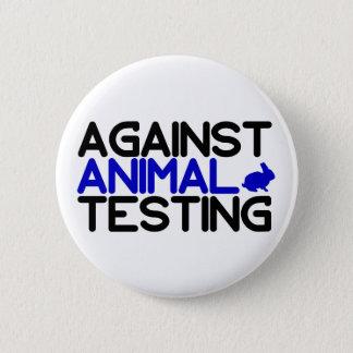 Gegen Tierversuche Runder Button 5,1 Cm