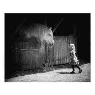 Gegenseitige Neugier Fotodruck