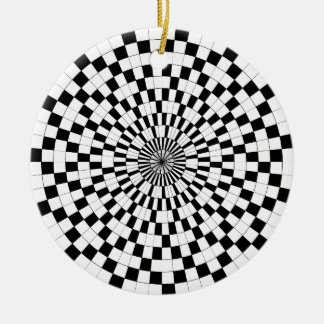 GegenSpiralen durch Kenneth Yoncich Rundes Keramik Ornament