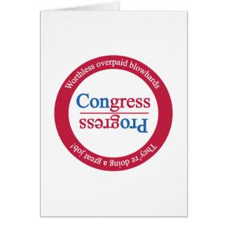 Gegenteil des Fortschritts ist Kongreß: Drehen Sie Karte