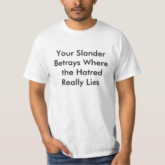 Gegenverleumdungs-/Rassismus-/Phobien-Karte T-Shirt