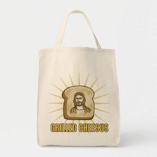 Gegrillte Cheesus Leinwand-Tasche