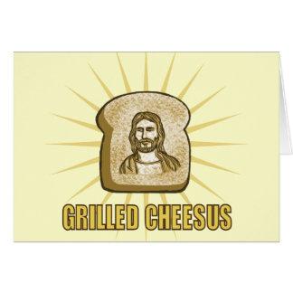 Gegrillte Cheesus notecards Grußkarte