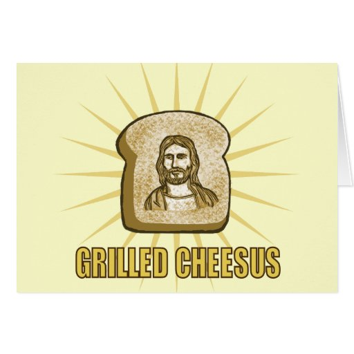 Gegrillte Cheesus notecards Grußkarten