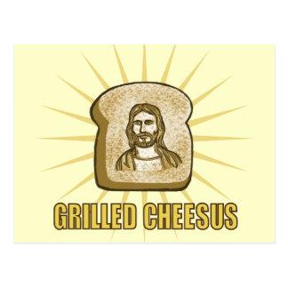 Gegrillte Cheesus Postkarte