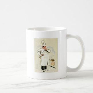 Gegrillte Huhn-Kochs-Vintage Nahrungsmittelanzeige Kaffeetassen