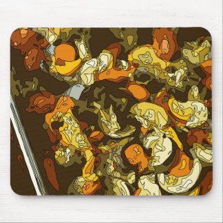 Gegrillte Karotten Zucchini und Pilz-Teller Mauspads