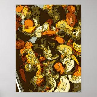 Gegrillte Karotten Zucchini und Pilz-Teller Plakatdruck