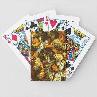 Gegrillte Karotten Zucchini und Pilz-Teller Poker Karten